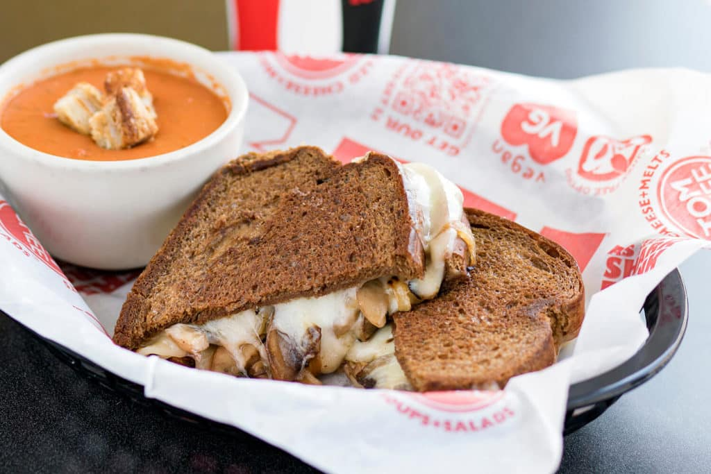 Swiss Shroom Sandwich Combo with soup tom & chee franchise